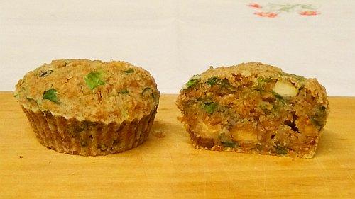Vegane Muffins aufgeschnitten