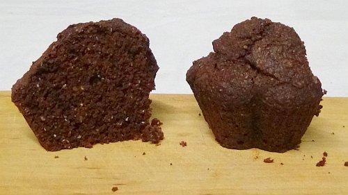 fluffige vegane Muffins aufgeschnitten - mein bewährtes Muffin Rezept