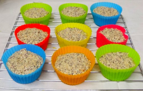 Vegane Muffins - in Silikonformen